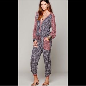 Free People Leia floral print jumpsuit